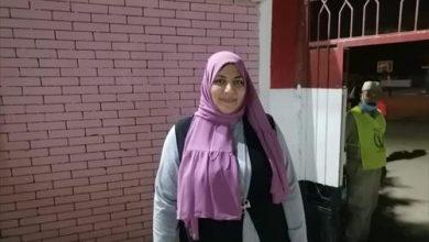 صورة أمل سليمان أول مأذونة في مصر والوطن العربي تُدلي بصوتها في انتخابات النواب بالشرقية