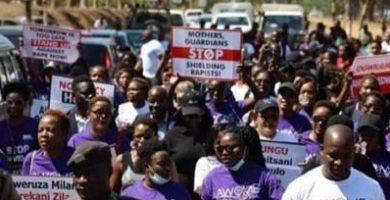 صورة الشنق للمغتصبين.. نساء يتظاهرن للمطالبة بتشديد الأحكام في ملاوي