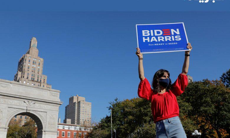 حشود تخرج للاحتفال بفوز بايدن في عدة مدن أميركية