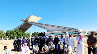 صورة أمانة العاصمة تبدأ أعمال تشجير بوابة مكة · صحيفة عين الوطن