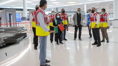 صورة إجراء تجربة إخلاء كامل في مبنى المسافرين الجديد بمطار البحرين الدولي