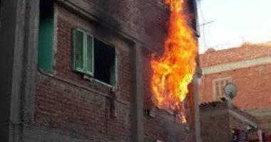 صورة السيطرة على حريق شقة سكنية اندلع بسبب دفاية بالمرج