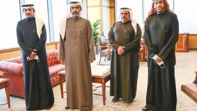 د.نواف الياسين خلال استقباله رئيس وأعضاء جمعية الشفافية