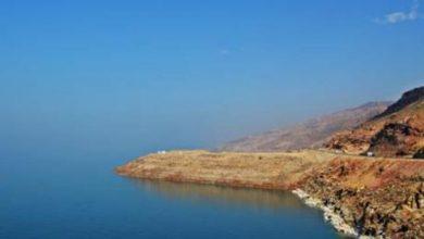 تدهور مركبة داخل البحر الميت - صورة