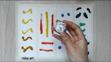 صورة تقنية طلاء الالمنيوم/Acrylic paint/Tree segmentation(الفصول الاربعة).