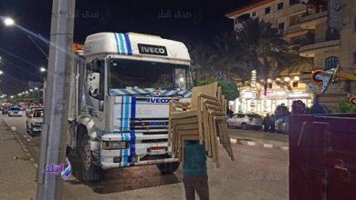 صورة حملة ليلية لرفع الإشغالات بدمياط الجديدة .. شاهد