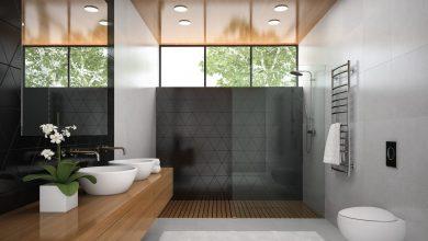 صورة ديكورات أسقف حمامات |