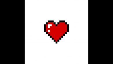 صورة طريقة سهلة لِـــ رسم القلب بتقنيــة البكسل آرت #PixelArt