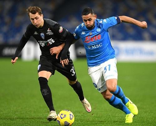 نابولي يتأهل لدور الثمانية وانتر يضرب موعدا مع ميلان في كأس إيطاليا
