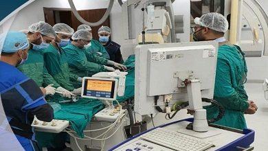 صورة نجاح أول عملية توسيع للشريان الرئيسي الأيسر بقلب مسن بمستشفى النصر التخصصي بورسعيد