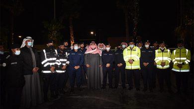 وزير الداخلية يقوم بجولة ميدانية في ليلة رأس السنة الميلادية على مجمع مروج وعمليات الأمن العام بالزهراء ومحافظتي الفروانية والجهراء
