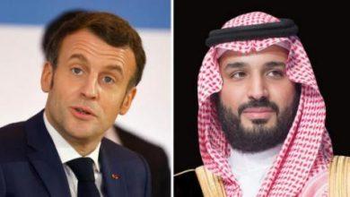 صورة ولیعهد سعودی و رئیسجمهور فرانسه مسائل منطقهای را بررسی کردند