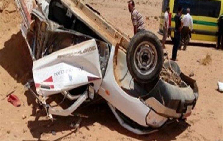 إصابة رئيس مركز الفرافرة في حادث انقلاب سيارة بالوادي الجديد