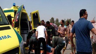 صورة إصابة 5 أشخاص جراء حادث تصادم 3 سيارات في أسوان