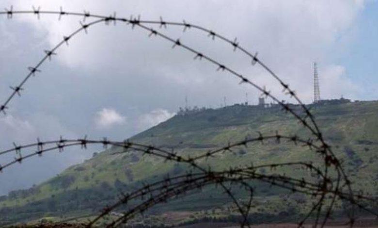 الحدود الحالية بين سوريا والجولان المحتل من جانب إسرائيل