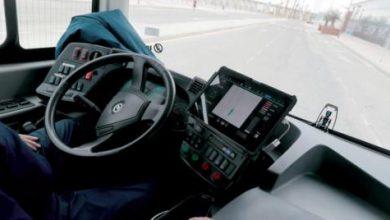 صورة حافلة ذاتية القيادة تجوب شوارع ملقة الإسبانية