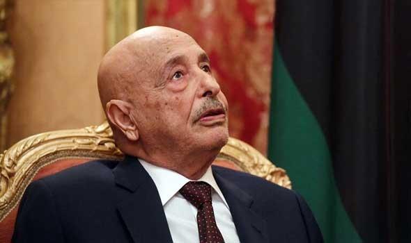 عقيلة صالح يؤكد دعمه للرئاسي لإخراج المرتزقة من ليبيا