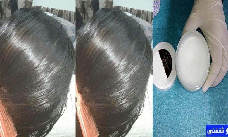 لأول مرة طريقة بروتين لفرد الشعر بدون ضرر نهائياً مع تثبيت لون الشعر وإزالة الشيب