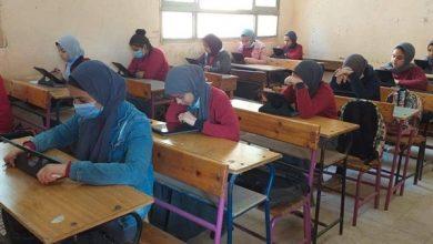 صورة وكيل تعليم جنوب سيناء يتابع سير امتحانات النقل للتعليم الفني
