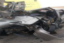 صورة مصرع وإصابة 4 بينهم بريطاني في حادث أمام مزار عيون موسى