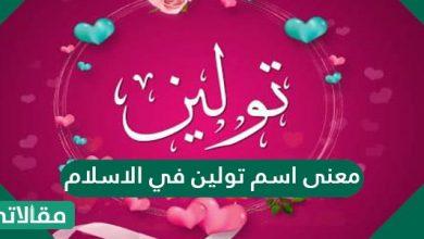 صورة معنى اسم تولين في الاسلام والصفات الشخصية لحاملة هذا الاسم