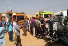 صورة ننشر أسماء وفيات حادث تصادم على الطريق الزراعي بأسوان