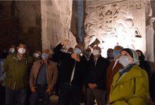 صورة وزيرا الطيران والسياحة يتفقدا أعمال ترميم تمثال رمسيس الثانى بالأقصر.. صور