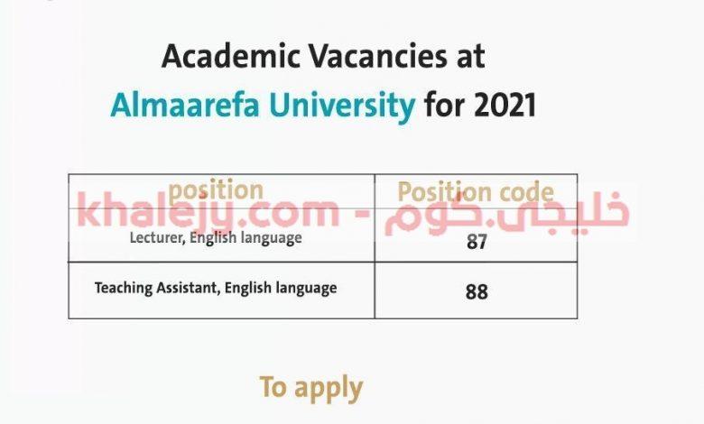 وظائف أكاديمية شاغرة لحملة البكالوريوس جامعة المعرفة