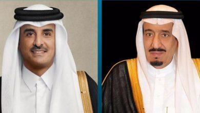 صورة القيادة القطرية تهنئ خادم الحرمين الشريفين بمناسبة نجاح العملية ا