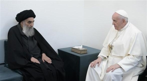 البابا فرنسيس عن اللقاء مع السيستاني: أراح نفسي