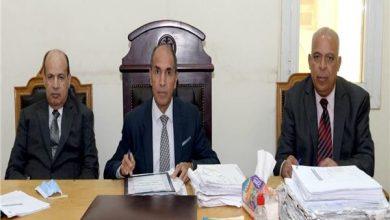 هيئة المحكمة برئاسة المستشار محمد أحمد عطية