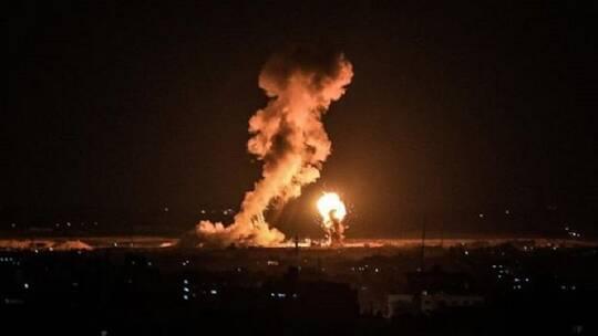 طائرات الاحتلال تقصف مواقع للمقاومة في قطاع غزة..فيديو