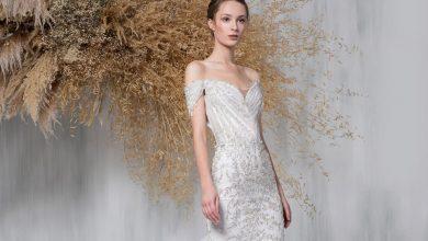 صورة موديلات فساتين زفاف للقصيرات 2021