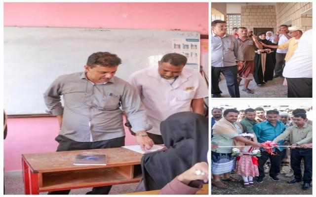 الدكتور أحمد بارأس يفتتح مصنع بئر فضل لتعبئة الغاز المنزلي  ويتفقد سير الامتحانات بدار سعد