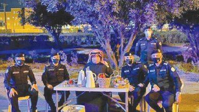 صورة الشيخ ثامر العلي لرجال الأمن: الحزم حيال من يكسر الحظر