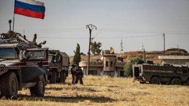 صورة تحركات عسكرية وانسحاب لميلشيا (فاطميون) في محيط الرقة