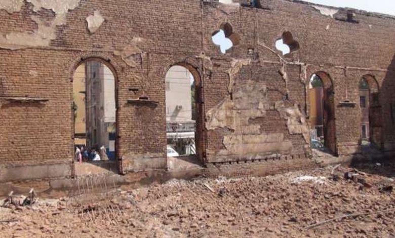 الكنيسة عقب تخريبها