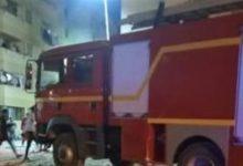 صورة السيطرة على حريق في صالة جيم نادي سبورتنج