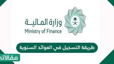 صورة طريقة التسجيل في العوائد السنوية وزارة المالية السعودية
