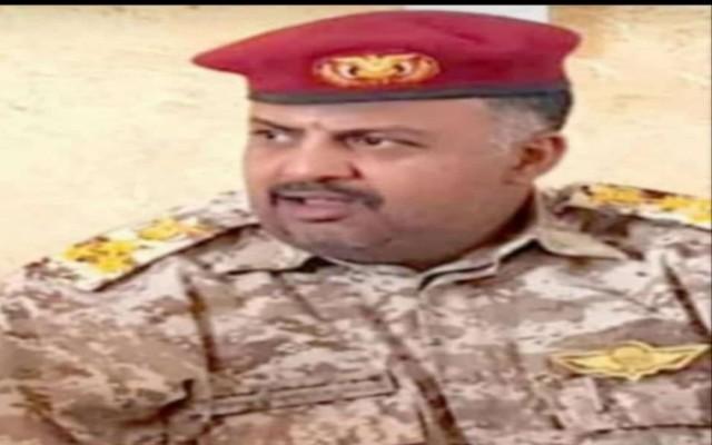 قائد اللواء 115 مشاة يعزي في وفاة قائد اللواء 159 العميد سيف الشدادي