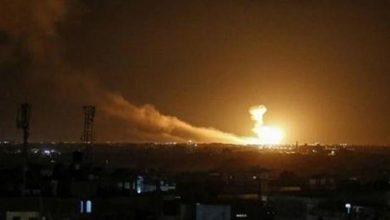 صورة قصف صاروخي يستهدف مطار أربيل في كردستان العراق