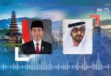 صورة محمد بن زايد ورئيس إندونيسيا يتبادلان هاتفيا التهاني بحلول شهر رمضان