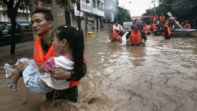 صورة مصرع 15 شخصا وإجلاء عشرات الآلاف فى فيضانات بجنوب الصين