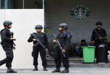 صورة مقتل مهاجم طعن شرطيين في إندونيسيا
