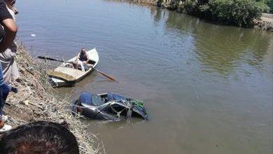 إصابة 4 أشخاص في حادث انقلاب سيارة ملاكي بترعة في كفر الشيخ