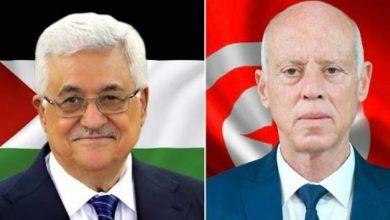 الرئيس التونسي يُهاتف نظيره الفلسطيني ويستعرضا واقع المدينة المقدسة .