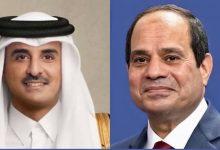 السيسي يتبادل التهنئة مع أمير قطر بمناسبة حلول عيد الفطر