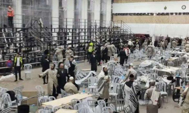 انهيار مدرجات في كنيس «كارلين» اليهودي الأرثوذكسي