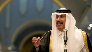 رئيس الوزراء القطري الأسبق يدعو الرئيس محمود عباس إلى تقديم استقالته .