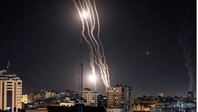 شاهد صواريخ غزة تظهر من سماء عمّان - صور